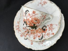 Continental tea cup saucer and plate set